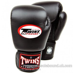 kids Twins black Velcro Boxing Gloves