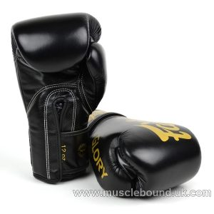 BGVG1 Fairtex X Glory Black Velcro Boxing Gloves