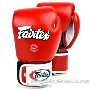 BGV1 Fairtex 3-Tone Red Boxing Gloves