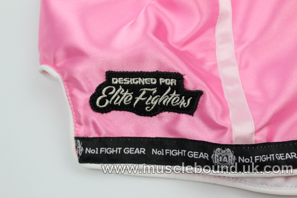 new arrival baby pink/ white satin lines kids shorts
