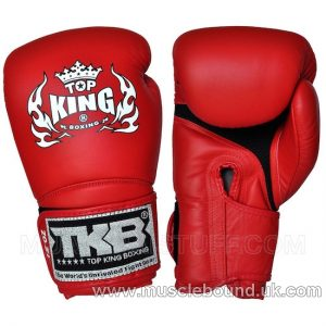 NEW Top King Blue Boxing Gloves Super Air RED