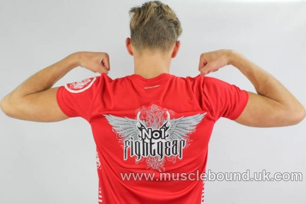 no1 fight gear t-shirt red