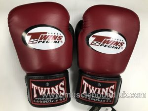 BGVL-3T Twins 2-Tone maroon-Black Boxing Gloves