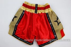 new arrival red fight gear shorts