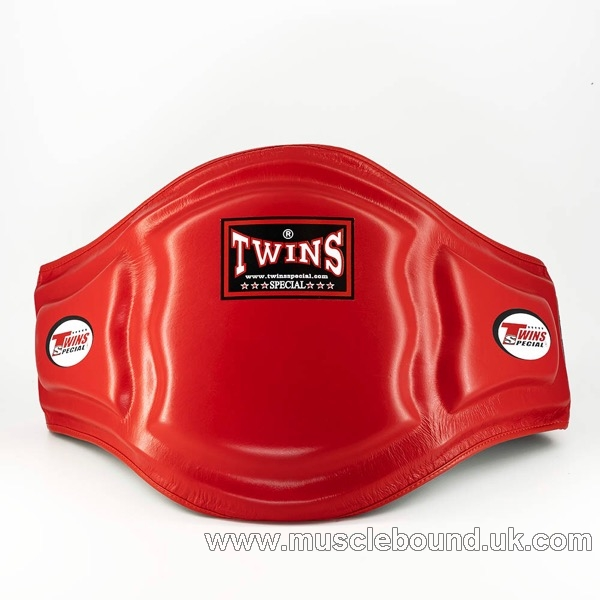 Twins Red Double Padded Leather Belly Pad