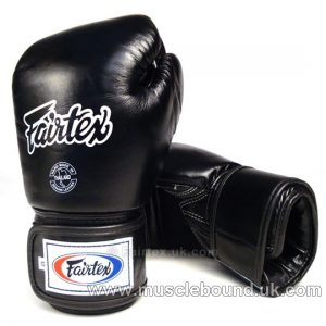 Fairtex Black Breathable Boxing Gloves