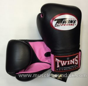 Twins 2 tone black/pink Air Boxing Gloves