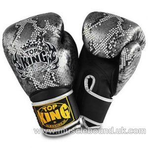 "Top King Silver / Black Boxing Gloves ""Snake"""