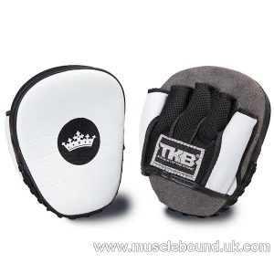 """Top King White / Black """"Light-Weight"""" Focus Mitts"""