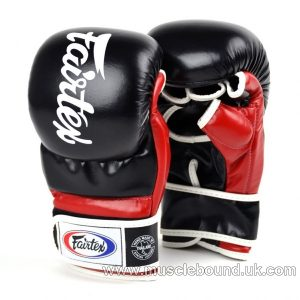 FGV18 Fairtex Black-Red Super Sparring MMA Gloves