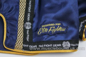 new arrival navy and gold kids fight gear shorts