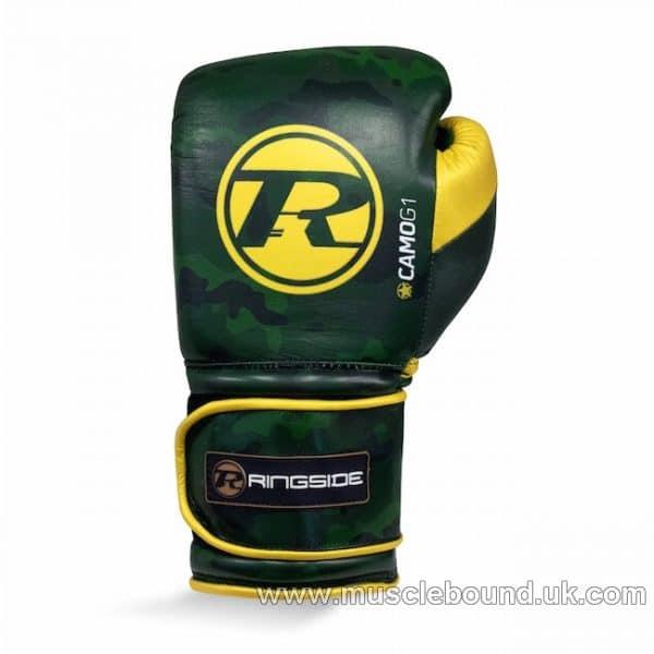Camo G1 Ultra Pro Spar Glove Strap Metallic Green / Gold