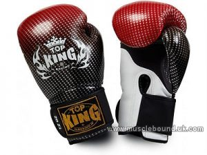 Top King Super Stars Boxing Gloves red