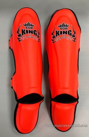 Topking adults orange shinguards