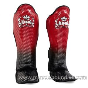 kids Top King Super Stars Shin Guards red