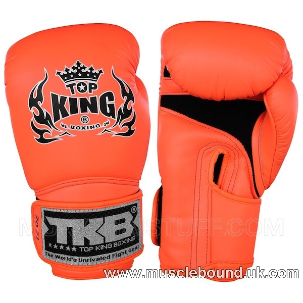"NEW TOP KING kids Boxing Gloves Neon ""AIR"" Orange"