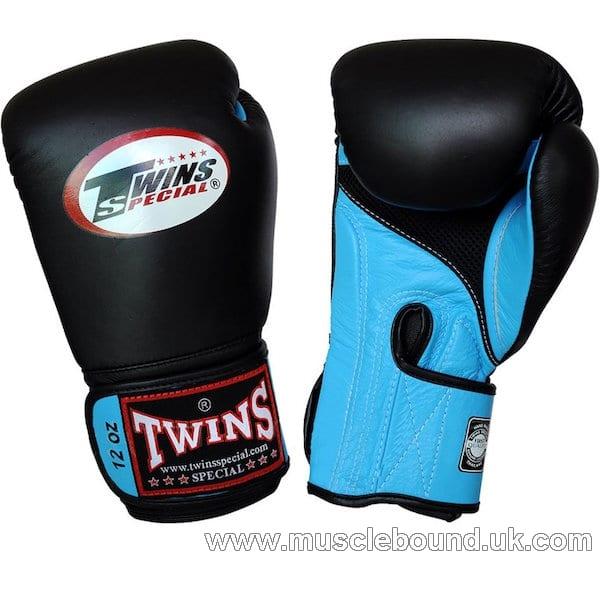BGVLA-1 Twins black-light blue Air Boxing Gloves