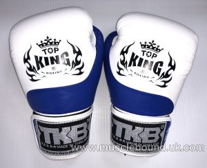 new kids topking gloves 2 x toned blue/white