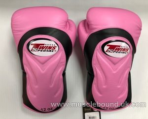 BGVL6 Twins Pink/ black Deluxe Sparring Gloves