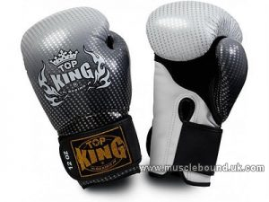 Top King Super Stars Boxing Gloves silver