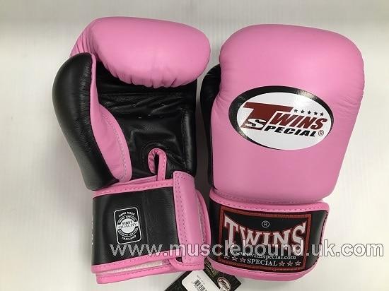 BGVL-3T Twins 2-Tone pink-Black Boxing Gloves