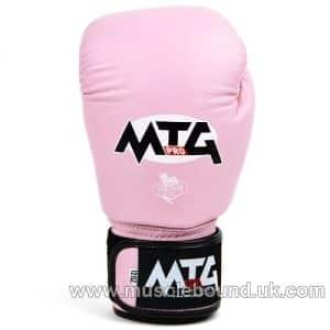 MTG-VG MTG Pro Pink Velcro Boxing Gloves
