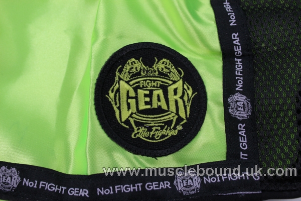 new arrival kids green/ black fight gear shorts