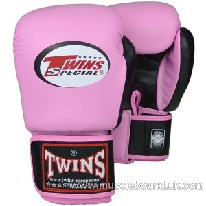 BGVL-3T Twins 2-Tone pink-Black Boxing Gloves
