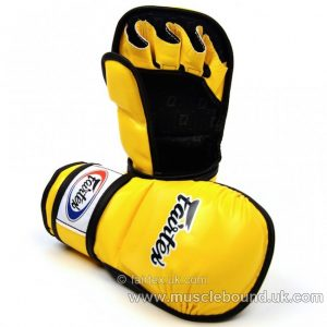 FGV15 Fairtex Yellow MMA Sparring Gloves