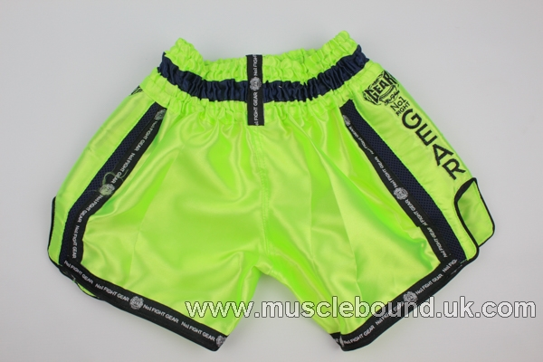 new arrival lime green/ side ebroidered kids shorts