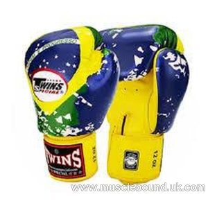 Twins Brazilian flag Boxing Gloves