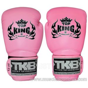 "TOP KING Boxing Gloves Super ""AIR"" Pink With Pink Palm"