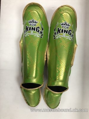 Top King Green/ gold snake Shinguards