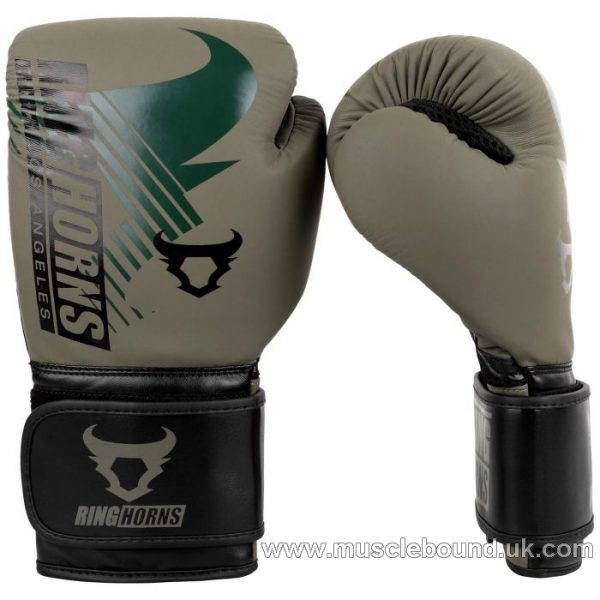 RINGHORNS CHARGER MX BOXING GLOVES - KHAKI/BLACK