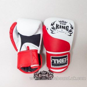 new kids topking gloves 2 x toned red/white