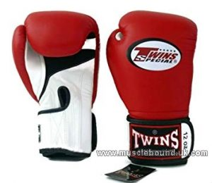Twins 2 tone red/white Air Boxing Gloves