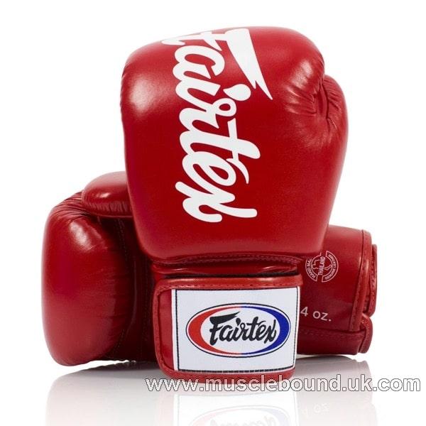 BGV19 Fairtex Red Deluxe Tight-Fit Gloves