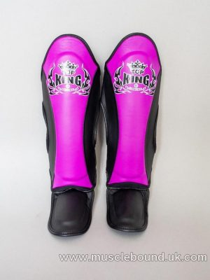 new topking kids shinguards 3 x tone purple/ black/ black