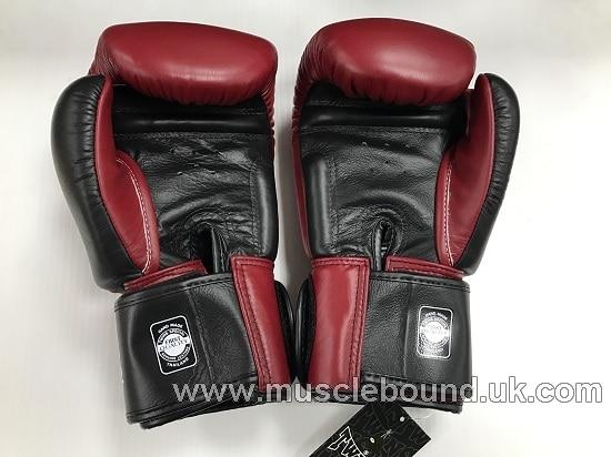 BGVL-3T Twins 2-Tone maroon-Black Boxing Gloves