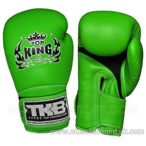 "TOP KING Boxing Gloves Super ""AIR"" Green With Green Palm"