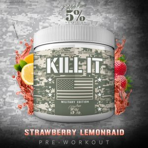 Kill It Military & Veterans Pre Workout Strawberry Lemon