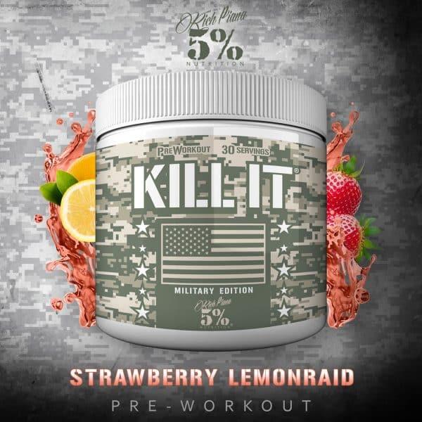 Kill It Military & Veterans Pre Workout Strawberry Lemon