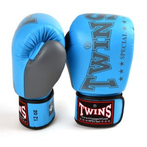 BGVL3 2TA Twins Light Blue Grey 2 Tone Boxing Gloves