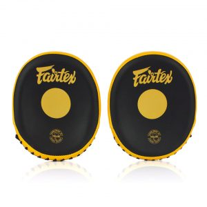 FMV15 Fairtex Pro Speed Mitts Black-Gold