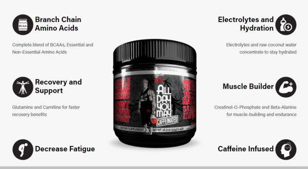 ALL DAY YOU MAY BCAAs 30 SERVINGS CAFFEINATED