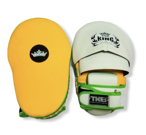 TOP KING FOCUS MITTS EXTREME YELLOW/SIDE GREEN/WHITE