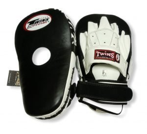 PML-19 TWINS LONG FOCUS MITTS BLACK/WHITE
