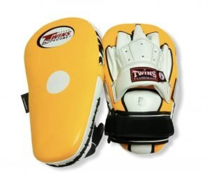 PML-19 TWINS LONG FOCUS MITTS YELLOW/WHITE